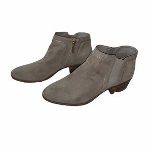 KARL LAGERFELD TAN HEELED ANKLE BOOTIES SIZE 7